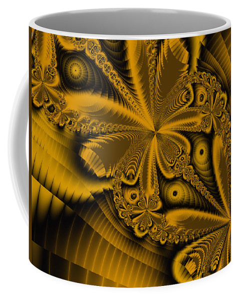 Fractal Art Coffee Mug featuring the digital art Paths Of Possibility by Elizabeth McTaggart