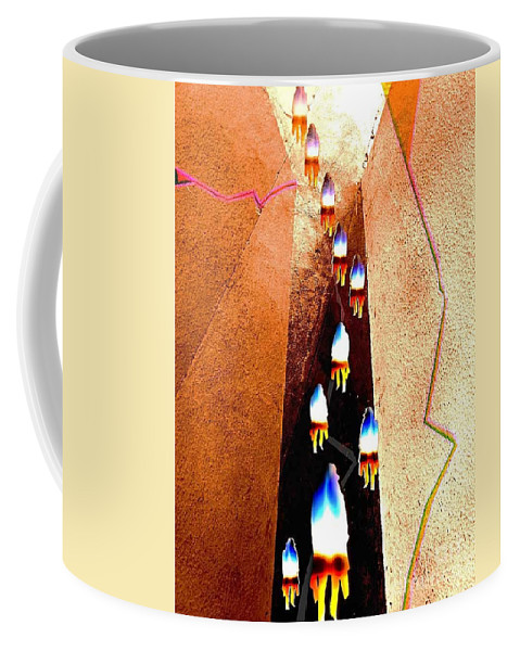 Abstract Coffee Mug featuring the digital art Pathway by Fei A