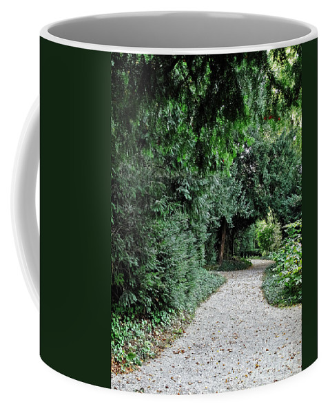 Travel Coffee Mug featuring the photograph Pathway Of Monks by Elvis Vaughn