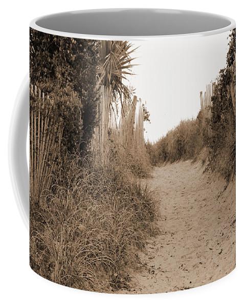 Beach Coffee Mug featuring the photograph Pathway To The Beach by Cynthia Guinn