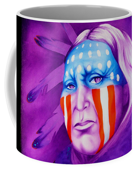Native American Art Coffee Mug featuring the painting Patriot by Robert Martinez