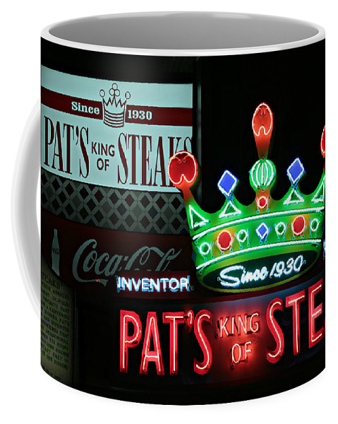 American Coffee Mug featuring the photograph Pat's King Of Steaks by Stephen Stookey