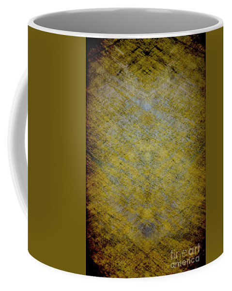 Pattern; Design; Texture; Water; Blur; Blurred; Blurry; Yellow; Brown; Blue; Out Of Focus; Crosses; Abstract Coffee Mug featuring the photograph Patterns Of Everyday by Margie Hurwich