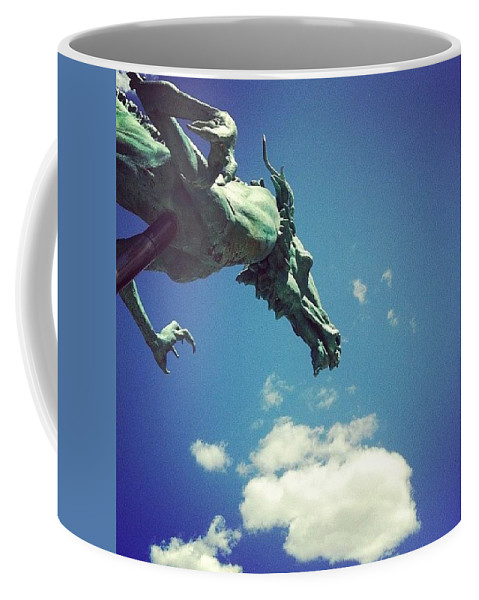 Dragon Coffee Mug featuring the photograph Paul's Dragon by Katie Cupcakes