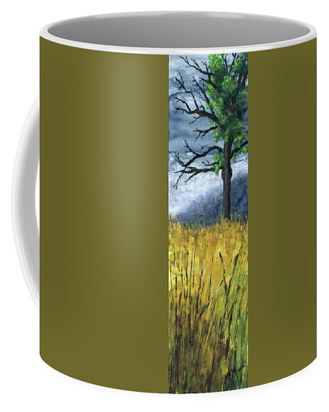 Trees Coffee Mug featuring the painting Pauls Tree by Garry McMichael