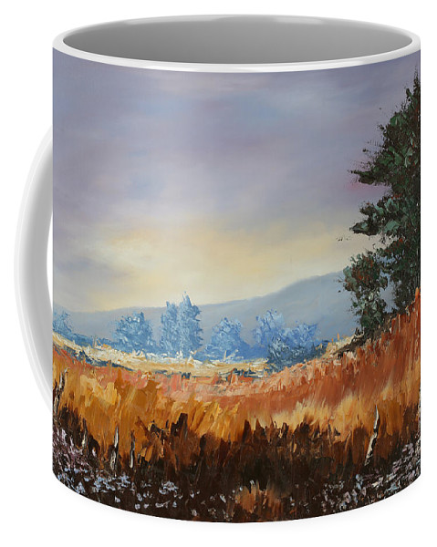 Tree Coffee Mug featuring the painting Peace by Andrew Sanan