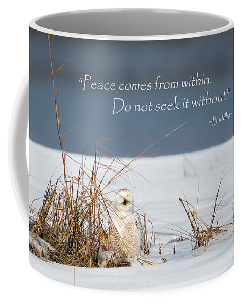 Quote Coffee Mug featuring the photograph Peace by Bill Wakeley