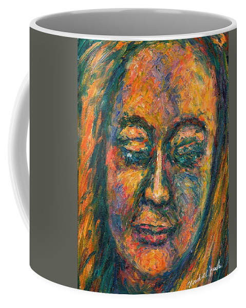 Woman Coffee Mug featuring the painting Peace by Kendall Kessler