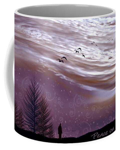 Landscape Coffee Mug featuring the photograph Peace On Earth by Holly Kempe