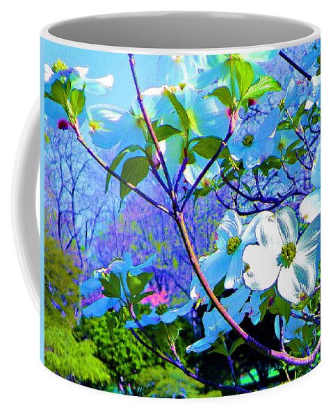 Print On Canvas Coffee Mug featuring the painting Peaceful Dogwood Spring by Susanna Katherine