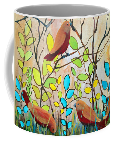 Animals Coffee Mug featuring the painting Peaceful Gathering by Ruth Palmer