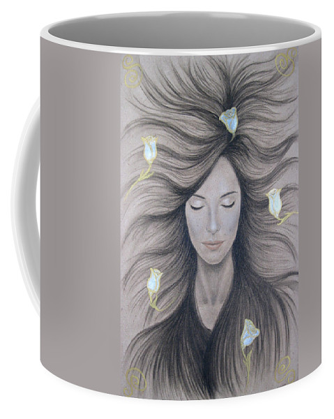 Peaceful Coffee Mug featuring the painting Peaceful by Lynet McDonald