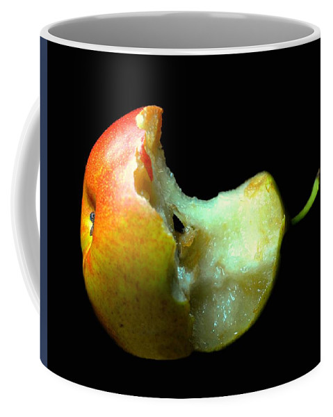 Fruit Coffee Mug featuring the photograph Bartlett Pear Bite by Diana Angstadt