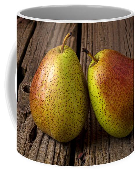 Two Coffee Mug featuring the photograph Pear Still Life by Garry Gay