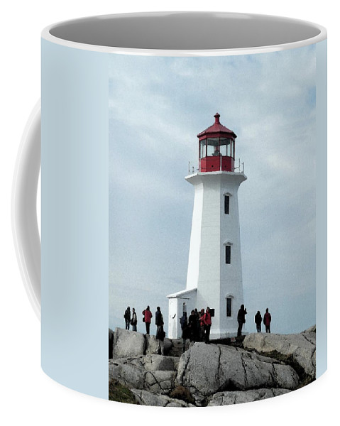 Light House Coffee Mug featuring the photograph Peggy's Cove Light House by Nicki Bennett