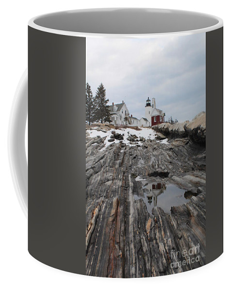 Lighthouse Coffee Mug featuring the photograph Pemaquid 8263 by Joseph Marquis