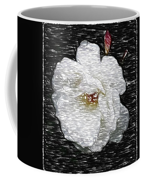 Rose Coffee Mug featuring the photograph Pencil A Rose by Kathy Sampson