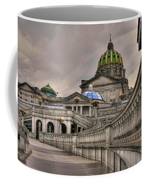 Pennsylvania State Capital Coffee Mug featuring the photograph Pennsylvania State Capital by Lois Bryan