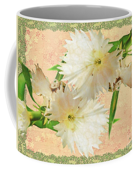 Decoupage Coffee Mug featuring the painting Penny Postcard Cheerful by RC DeWinter