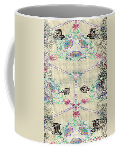 Asian Coffee Mug featuring the painting Penny Postcard Teahouse by RC DeWinter