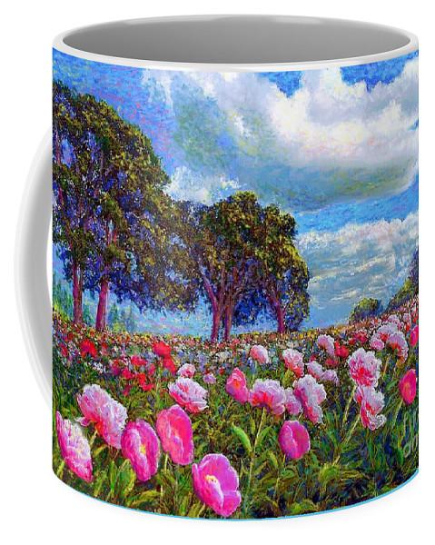 Peony Coffee Mug featuring the painting Peony Heaven by Jane Small