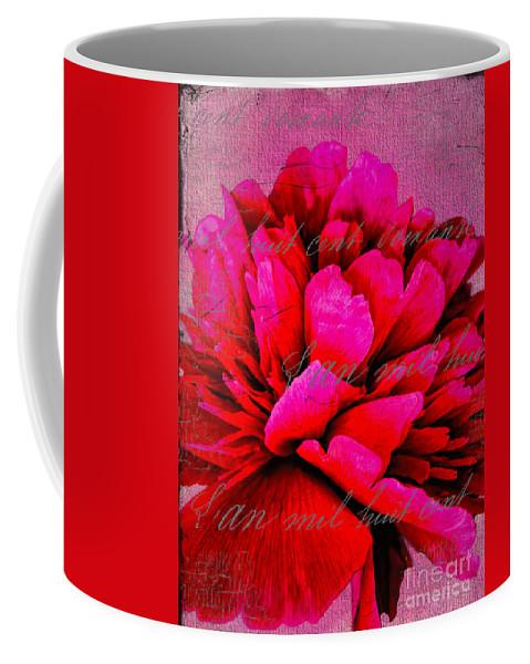 Peony Coffee Mug featuring the photograph Peony Perfection by Gillian Singleton