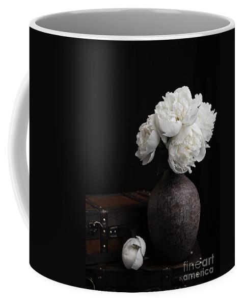 Luggage Coffee Mug featuring the photograph Peony Still Life by Edward Fielding