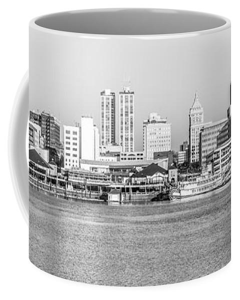 America Coffee Mug featuring the photograph Peoria Panorama Black And White Photo by Paul Velgos