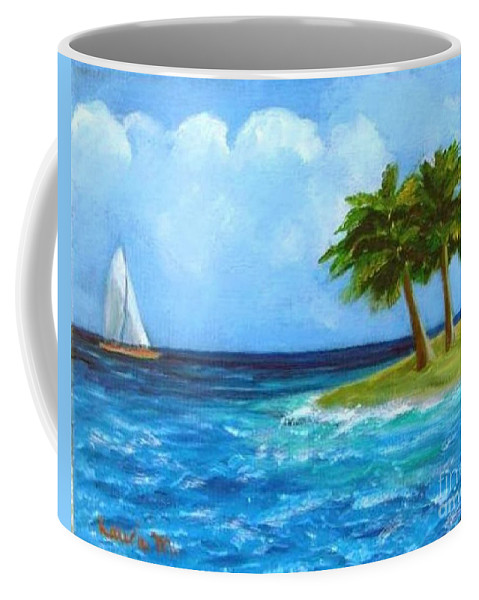 Boats Coffee Mug featuring the painting Perfect Sailing Day by Laurie Morgan