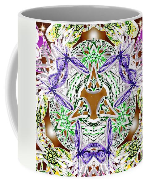 Sacredlife Mandalas Coffee Mug featuring the digital art Perihelion Rising by Derek Gedney