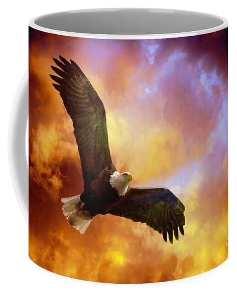 Eagle Coffee Mug featuring the photograph Perseverance by Lois Bryan