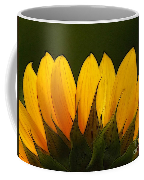 Sunflower Coffee Mug featuring the photograph Petales De Soleil - A01 by Variance Collections