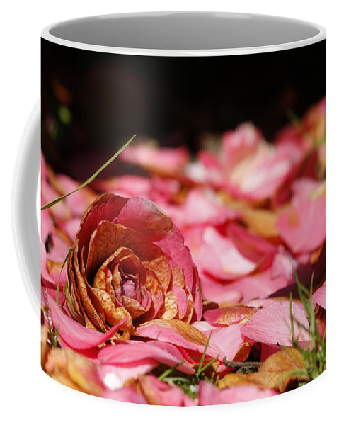 Plants Coffee Mug featuring the photograph Petals 2 by Steve Ball
