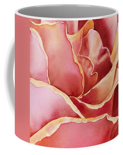 Rose Coffee Mug featuring the painting Petals Petals IIi by Irina Sztukowski