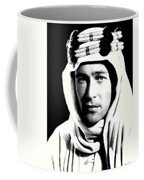Peter O'toole Coffee Mug featuring the digital art Peter O'Toole Portrait by Gabriel T Toro