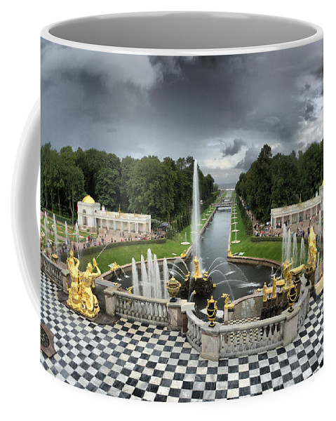 Antique Coffee Mug featuring the photograph Peterhof Palace by Michael Goyberg