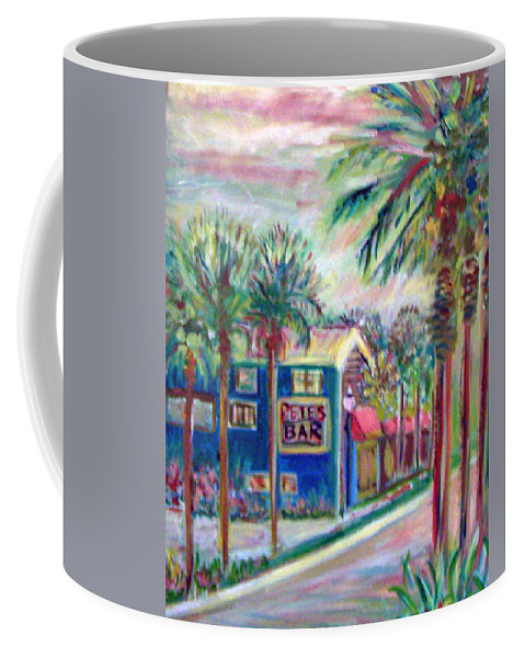 Florida Coffee Mug featuring the painting Pete's Bar In Neptune Beach by Patricia Taylor