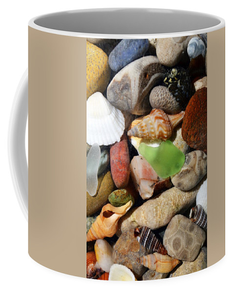 Stone Coffee Mug featuring the photograph Petoskey Stones L by Michelle Calkins