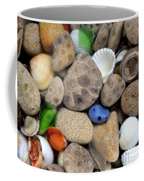 Stone Coffee Mug featuring the photograph Petoskey Stones Lll by Michelle Calkins