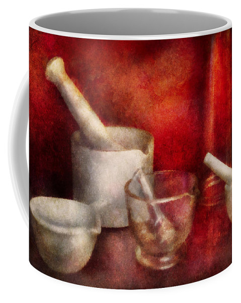 Doctor Coffee Mug featuring the photograph Pharmacy - Pestle - Endless Variety by Mike Savad
