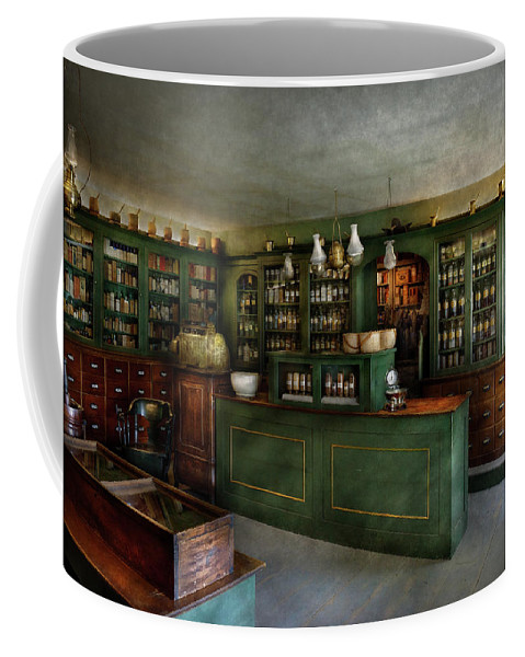 Apothecary Coffee Mug featuring the photograph Pharmacy - The Chemist Shop by Mike Savad