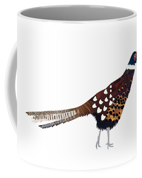 Pheasant Coffee Mug featuring the painting Pheasant by Isobel Barber