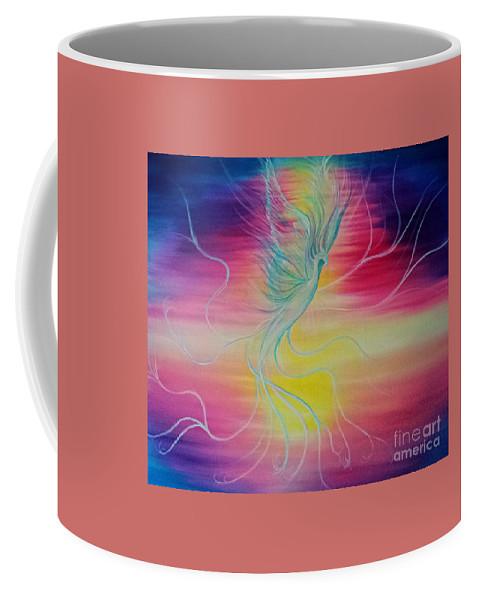 Pheonix Coffee Mug featuring the painting Pheonix by Jennifer Rose Hill