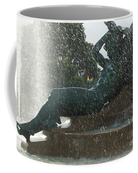 Calm Coffee Mug featuring the photograph Philadelphia Fountain One by Coventry Wildeheart