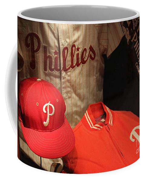 Philadelphia Coffee Mug featuring the photograph Philadelphia Phillies by David Rucker