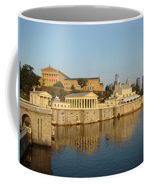 Philadelphia Waterworks Waterway Water Reflection Coffee Mug featuring the photograph Philadelphia Waterworks by Alice Gipson