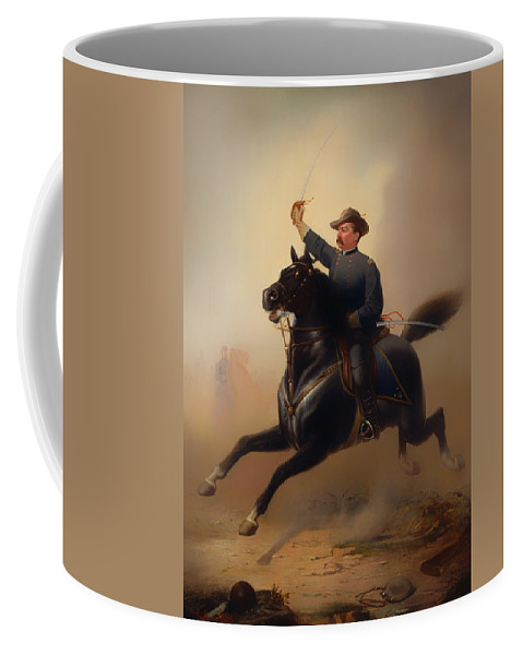 Painting Coffee Mug featuring the painting Philip Henry Sheridan by Mountain Dreams