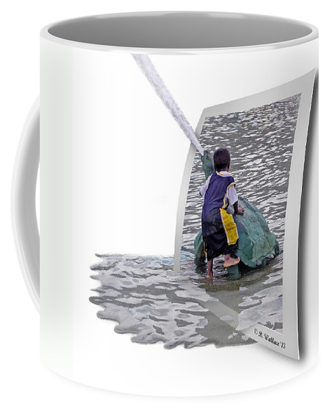 2d Coffee Mug featuring the photograph Philly Kid - Oof by Brian Wallace