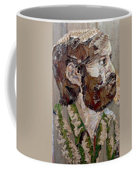 Portrait Coffee Mug featuring the mixed media Philospher's Vision by Basant Soni