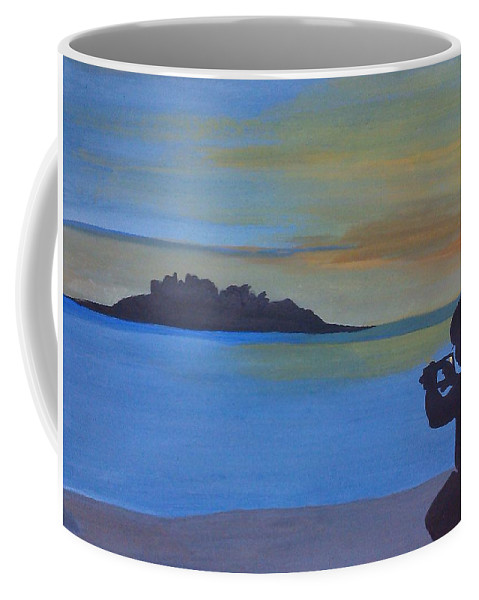 Coffee Mug featuring the painting Photoshoot by Surbhi Grover